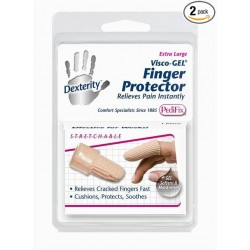 Pedifix Dexterity Fabric-covered Finger Protector with Visco Gel