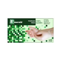 Emerald  Vinyl Powder- Free Gloves box w/ 100