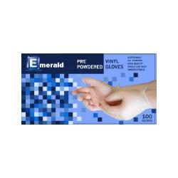 Emerald  Vinyl Powdered Gloves box w/ 100 M